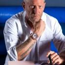 Lapo Elkann - FOUNDER & CREATIVE CHAIRMAN of GARAGE ITALIA - wearing the Big Bang Millennial Pink