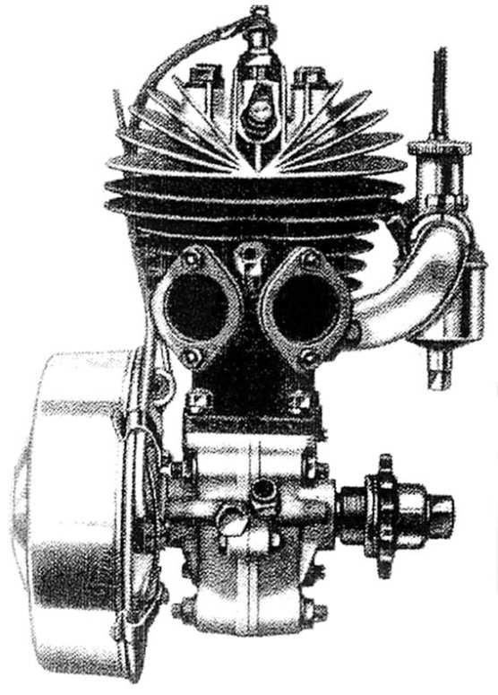 Super Sports 196 cc. Deze motor lijkt als twee druppels water op de 175 cc