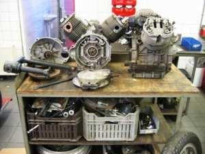 De restauratie van een Moto Guzzi V7 Sport
