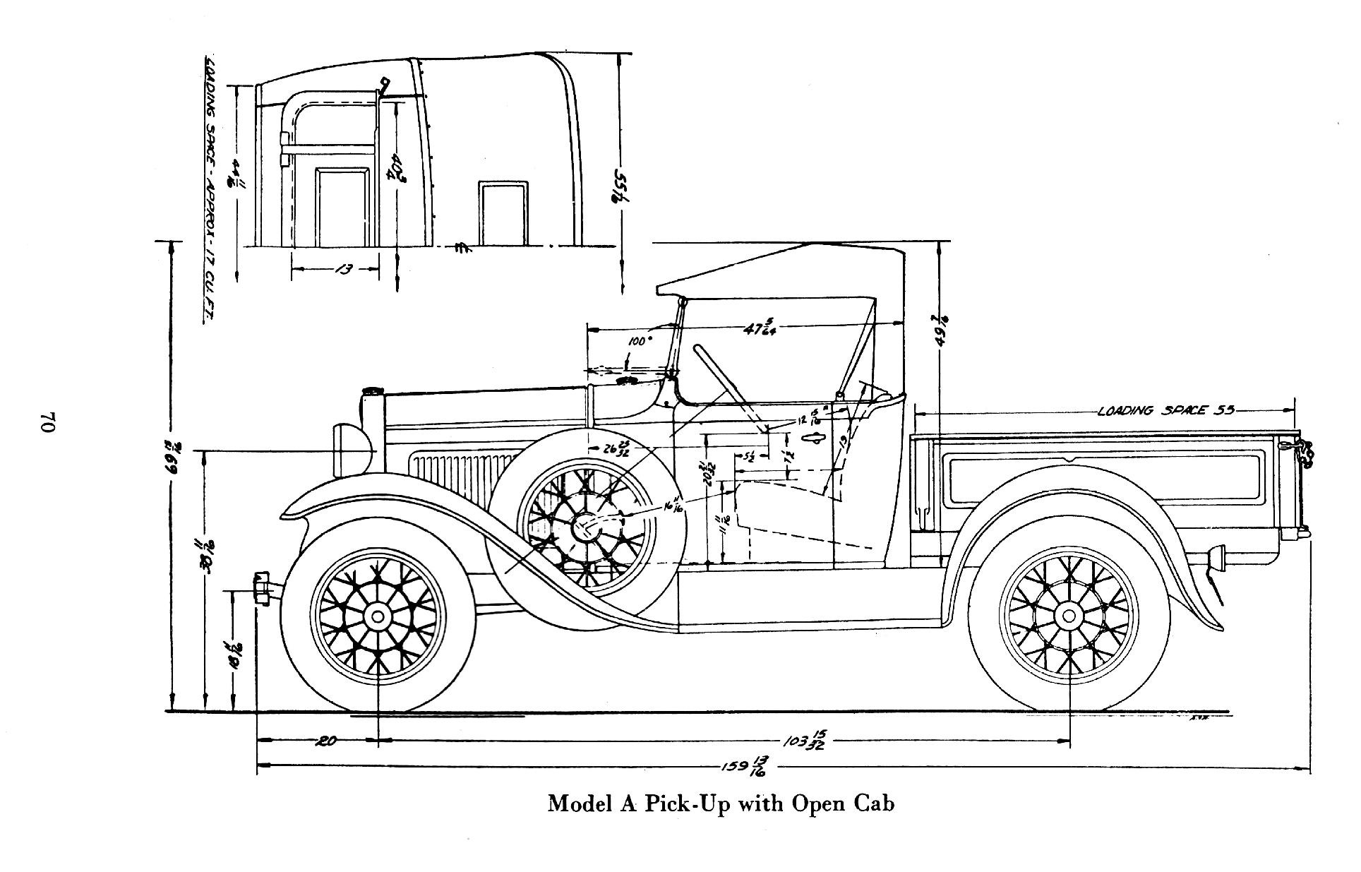 Ford Model Body Dimensions