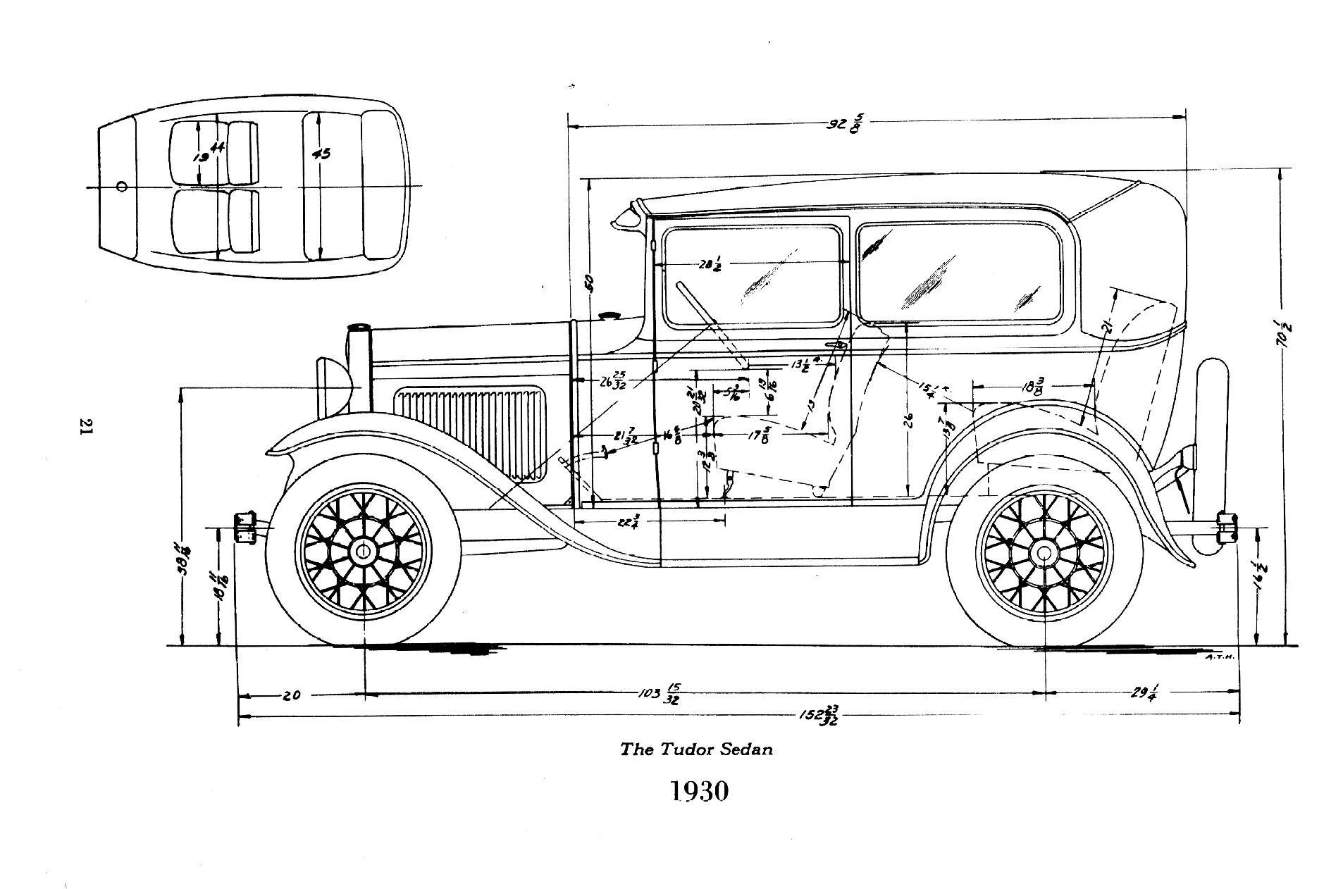 30 Ford Body Dimensions