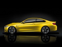 "© BMW AG 12/2013 / The all-new BMW M4 Coupé, Austin Yellow Metallic. 19"" M Light Alloy Wheels Double-Spoke Style 437 M, Jet Black, Forged and Polished, M Carbon Ceramic Brake"