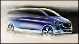 © Mercedes / The new Mercedes-Benz V-Class; Designskizzen; 2013