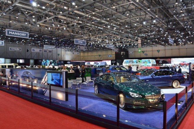 © MotorNews kw / 85. Auto-Salon Genf 2015 / BMW Alpina Messestand