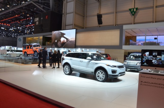 © MotorNews kw / 85. Auto-Salon Genf 2015 / Land Rover Messestand