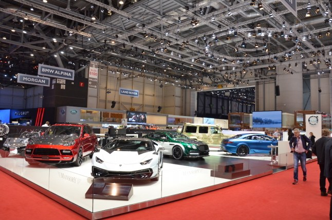 © MotorNews kw / 85. Auto-Salon Genf 2015 / MANSORY Messestand