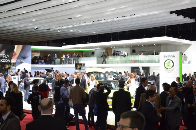 © MotorNews kw / 85. Auto-Salon Genf 2015 / Skoda Messestand