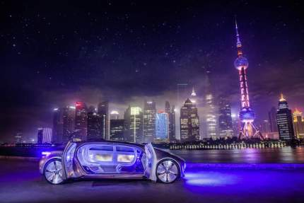 © Daimler AG / Mercedes-Benz und Baidu vertiefen strategische Partnerschaft / Mercedes-Benz F 015 Luxury in Motion in Shanghai, Mai 2015