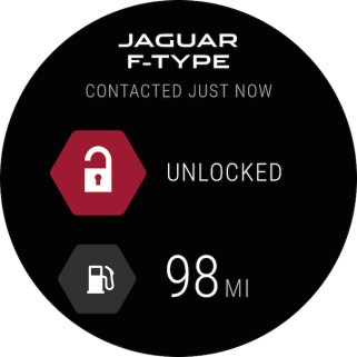 "© Jaguar Land Rover / Neue Smartwatch App hält Jaguar Land Rover Kunden ""connected"" / Home Screen"