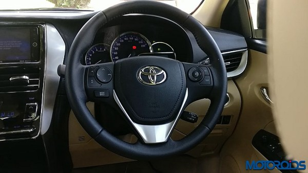 Toyota Yaris India steering wheel