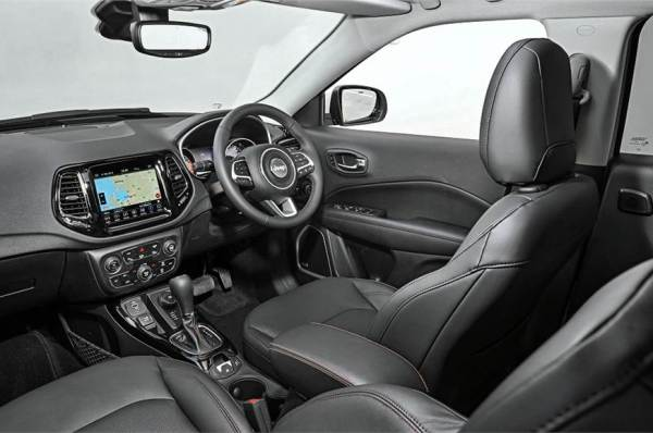 Jeep Compass Trailhawk interiors revealed