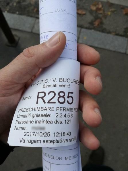 Bilet ordine