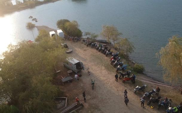 Aerial view bivuac