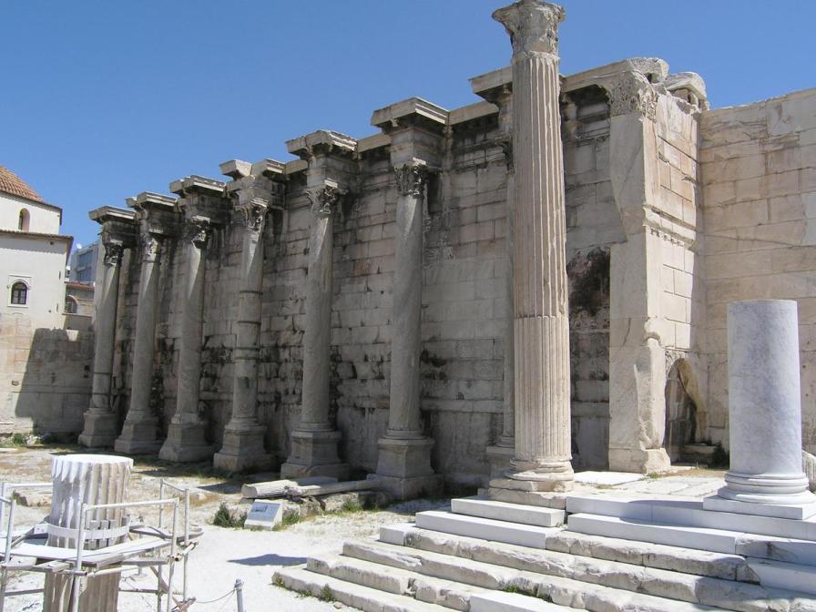 Bibilioteca lui Hadrian. sursa:wikipedia