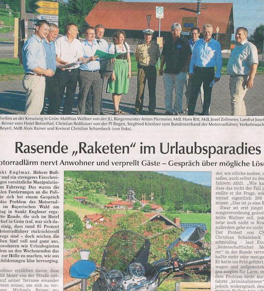 Ausriss aus dem Bayerwald Bote: Die Junge Union wird aktiv.