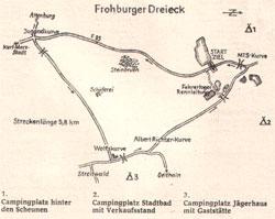 1960-1992 Länge: 5,834 km 1974 Umbau der Jugendkurve (neue Streckenlänge 5,800 km) ab 1985 mit Schikane vor dem Sprunghügel