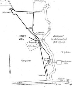 1950-1965 Länge: 5,2565 km ab 1959 Start und Ziel vermutlich immer rechts (wie 2010)