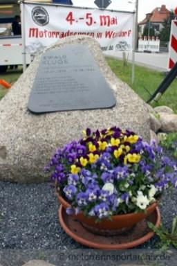 Ewald Kluge Gedenkstein in Weixdorf