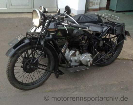 Mit einem baugleichen D-Rad startete 1927 zum ersten Badberg-Vierecks-Rennen Max Byczkowski aus Brandis