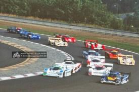 Start der Interserie 1991 in Most, vorn mit der Startnummer 8 Bernd Schneider (MOS1991-S-12)