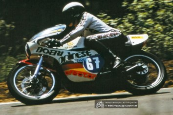 Harald Johler (BRD) auf Yamaha in Horice 1977