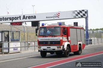 Schon in der Startphase musste die Feuerwehr ausrücken, aber in der letzten halben Stunde wurde es noch heißer