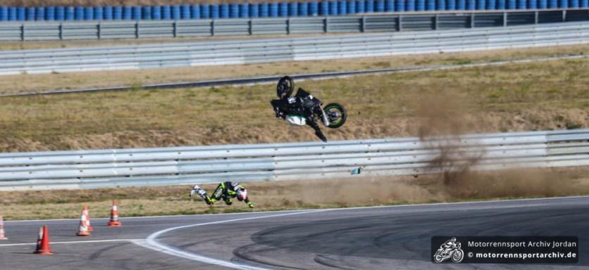 Miloslaw Hrva zerlegte sein Motorrad nachhaltig