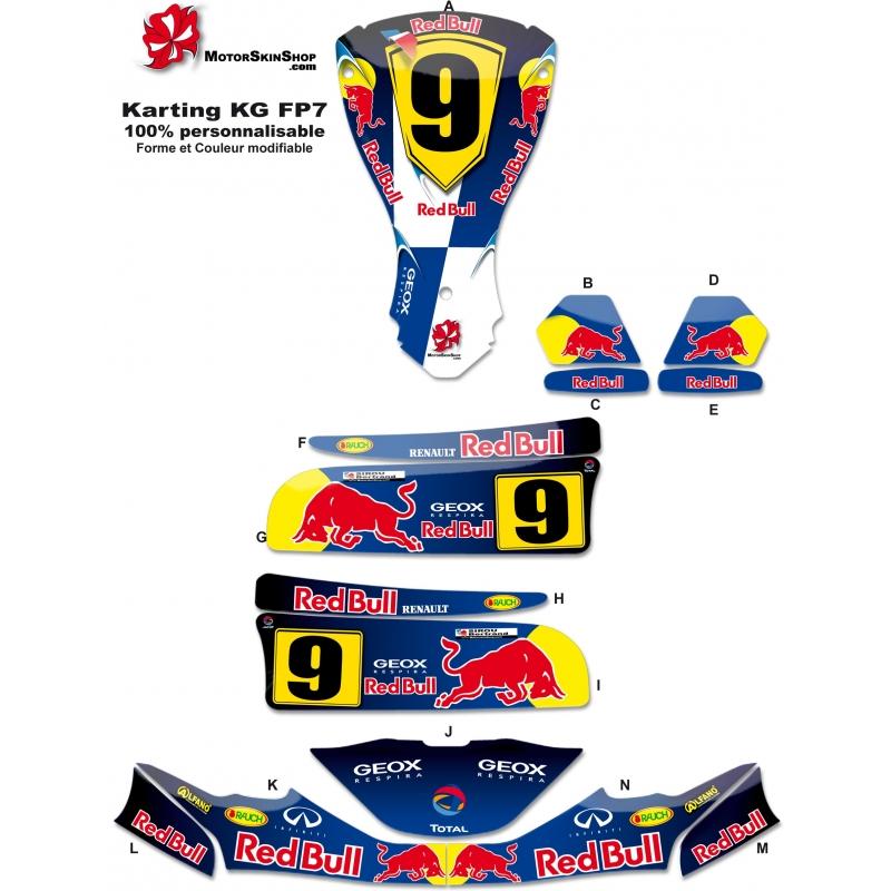 kit deco karting kg fp7 f1 renault