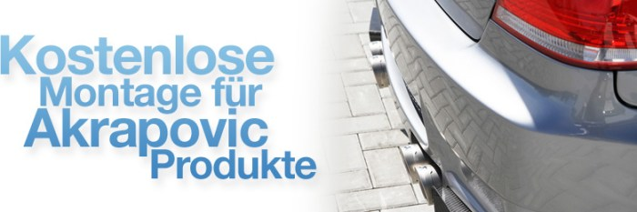 Banner BMW M3 E92 Akrapovic kostenlose Montage