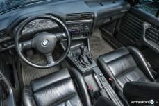 BMW E30 Cabrio Innenausstattung Leder schwarz