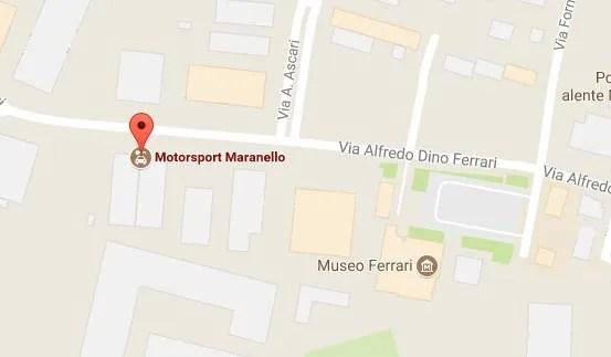 Mappa per Motorsport Maranello