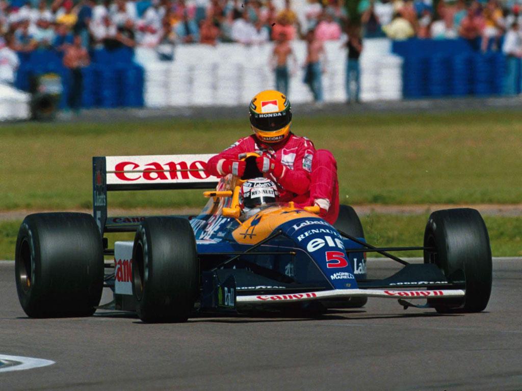 Image result for 1992 British Grand Prix mansell senna