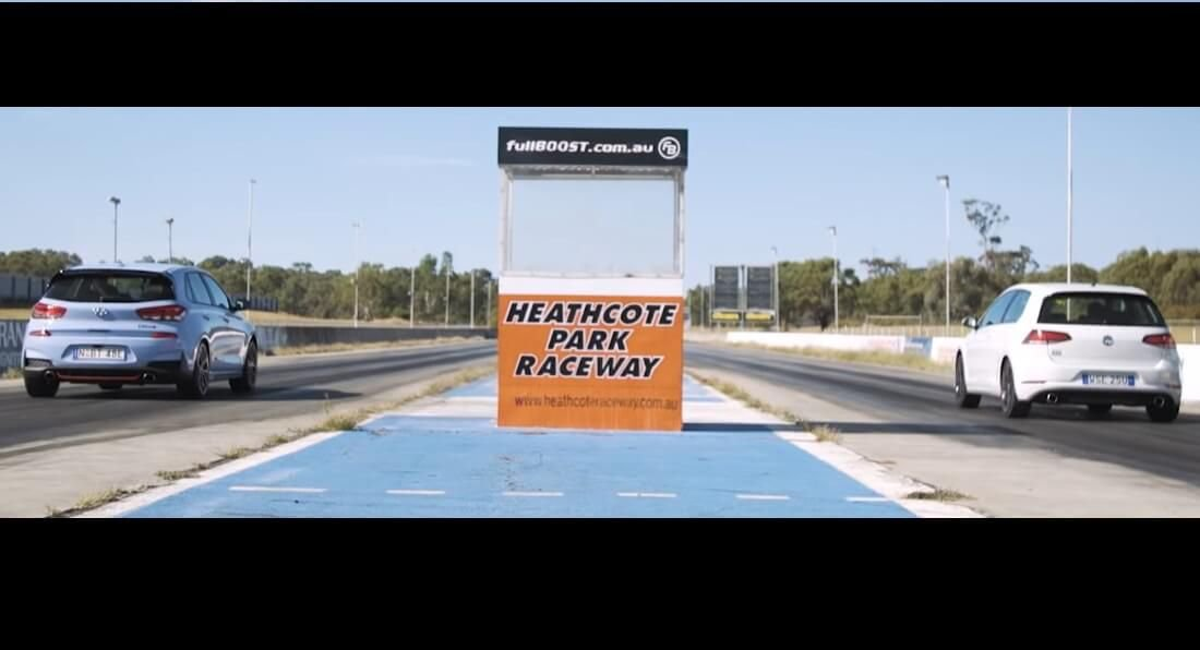 """Será que o novo i30N mais rápido numa """"Drag Race"""" que o Golf GTI?"""