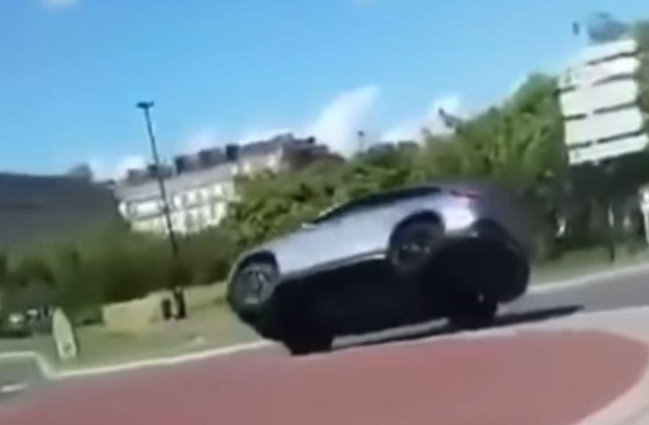 Como não fazer uma rotunda com um Mercedes GLE 63 AMG