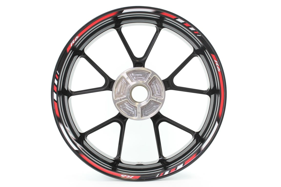 Rimstriping Yamaha Yzf R6 Red Wheel Stripes Motorcycle