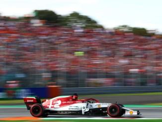 Kimi en la carrera de Monza