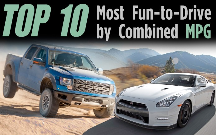 Top 10 Most Fun To Drive Vehicles By Combined Mpg