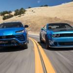Lamborghini Urus Vs Dodge Challenger Hellcat Redeye Pointlessly Perfect