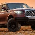 The Infiniti Qx80 Probes Its Nissan Roots With A Lift Kit And All Terrain Tires