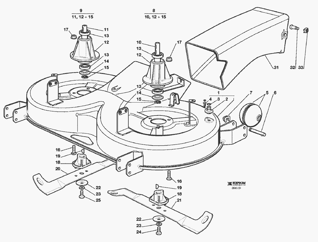 Spare Parts Lists For Solo Lawn Mower Cutting Plate 2