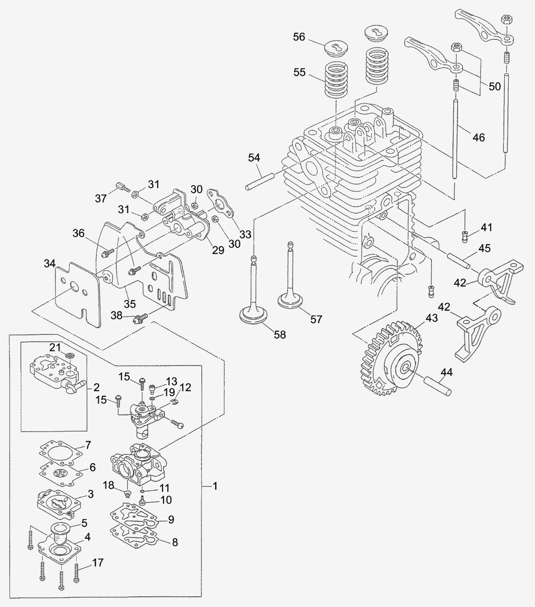 Spare Parts Lists For Solo Motorised Trimmers Carburetor Exhaust Intake Valve