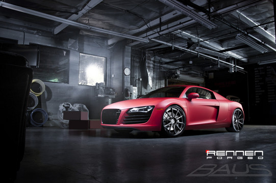 Matte Red Audi R8 By Rennen Forged