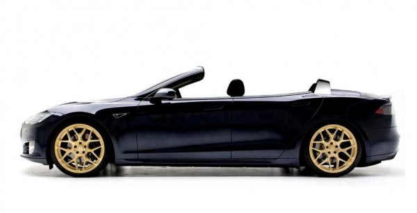 Tesla Model S Convertible 1 600x307 at NCE Receives 100 Orders for Tesla Model S Convertible