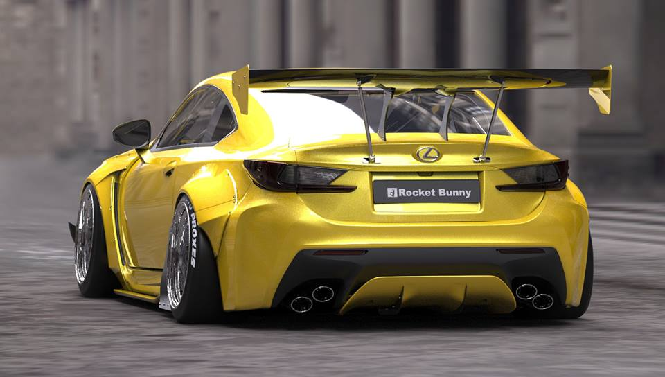 RocketBunny Lexus RC Wide Body Revealed Further