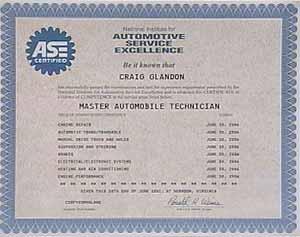 Ase Certification Motorweek