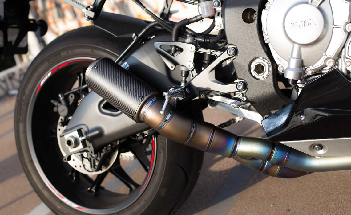 Carbon Fiber Exhaust on R1