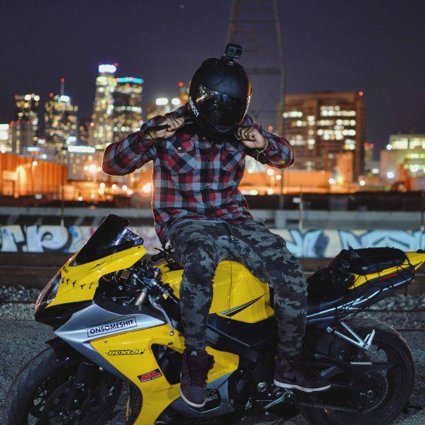 Yellow Suzuki GSXR 1000