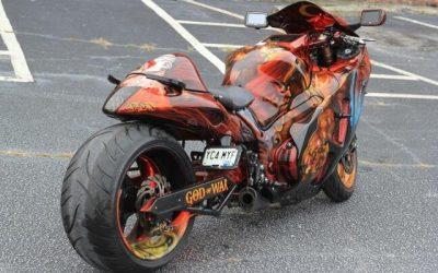 God of War on Suzuki Hayabusa by Uptown Grafx Custom Paint_3