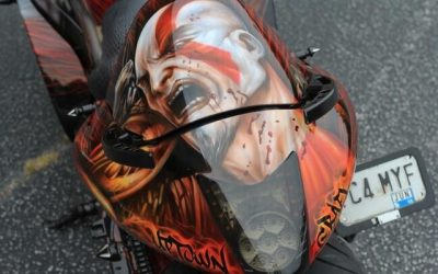 God of War on Suzuki Hayabusa by Uptown Grafx Custom Paint_4