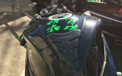 Green Camo Diamonds Kit on Suzuki GSXR 600_3
